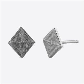 Ocelové náušnice pecky - Briliant - Kosočtverec