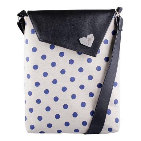 Dámská kabelka Dafné - černá - Modrý puntík