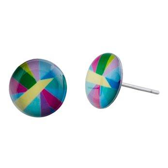 Malé náušnice pecky - barevné - Lovemusic