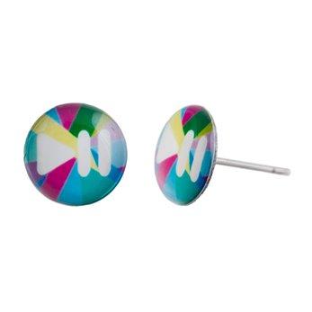 Malé náušnice pecky - barevné - Lovemusic-Play/pause