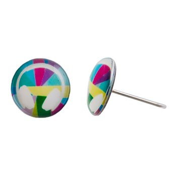 Malé náušnice pecky - barevné - Music