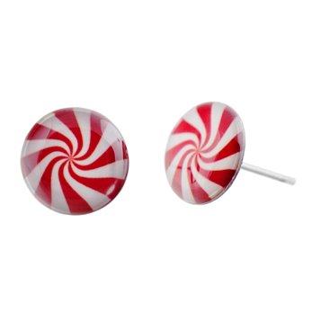 Malé náušnice pecky - barevné - Lollipop
