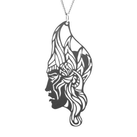 Luxusní dámský ocelový náhrdelník Womanity - Hrdinka
