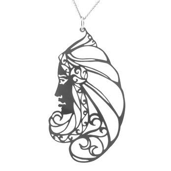 Luxusní dámský ocelový náhrdelník Womanity - Zasvětitelka