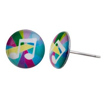 Malé náušnice pecky - barevné - Nota