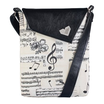 Dámská kabelka Dafné černá - Noty