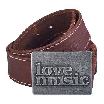Pánský kožený opasek - Hnědý - Lovemusic