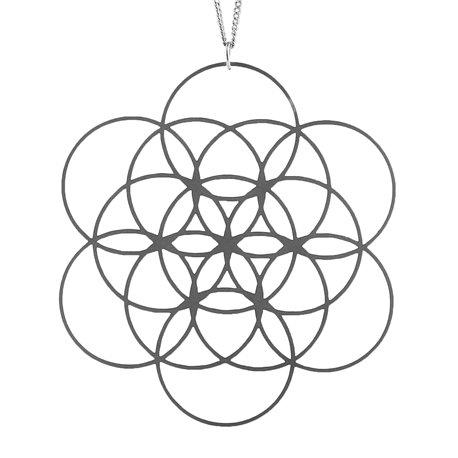 Dámský ocelový náhrdelník - Květ Života Velký
