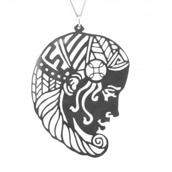 Luxusní dámský ocelový náhrdelník Womanity - Královna
