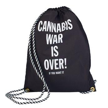 Látkový vak - Černý - Cannabis