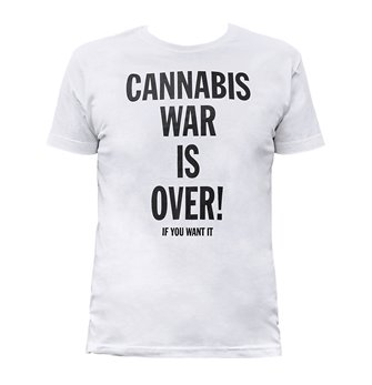 Pánské tričko - Bilé - Cannabis