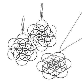 Sada ocelových šperků - Květ života