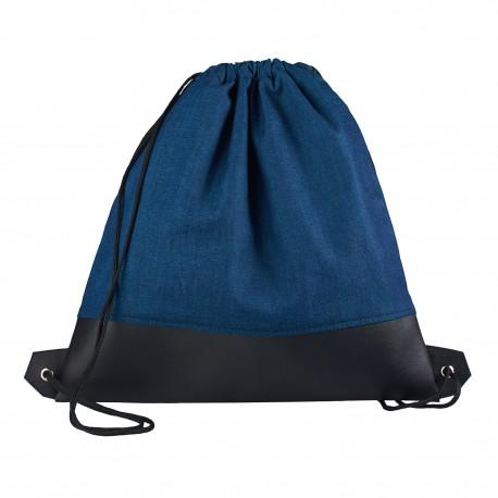 Vak na záda s koženkou - Denim