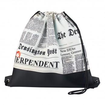 Vak na záda s koženkou - Newspaper