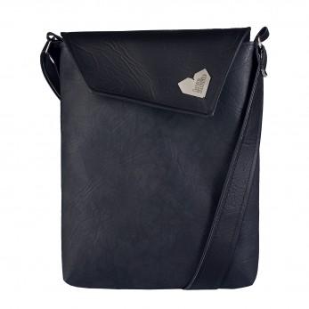 Dámská kabelka Dafné se zipem - Černá - Černoantracitová