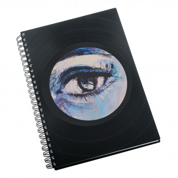 Zápisník z vinylových desek A5 - bez linek - Oko