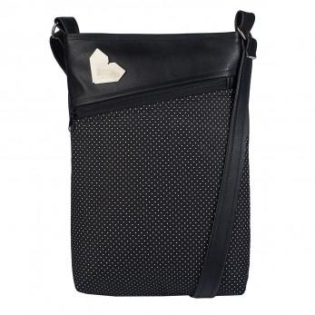 Dámská kabelka Kalypsó - Černá -  Černobílý Puntíček