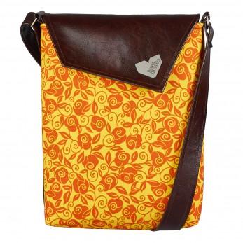 Dámská kabelka Dafné - Hnědá - Sluneční květiny