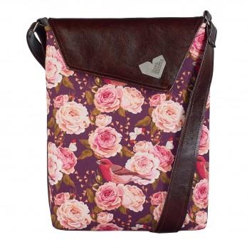 Dámská kabelka Dafné - Hnědá - Roses
