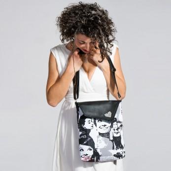 Dámská kabelka Dafné se zipem - Černá - Audrey Hepburn