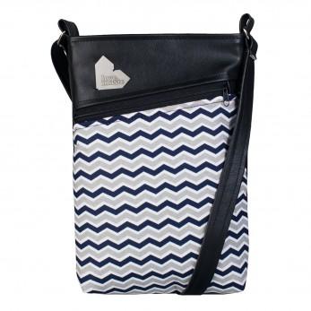Dámská kabelka Kalypsó – Cik cak černobílý