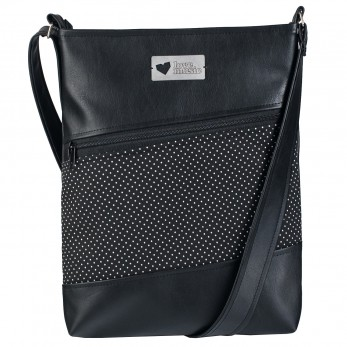 Dámská kabelka Harmonia - Černobílý puntíček