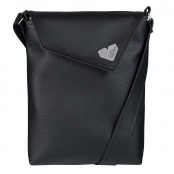 Dámská kabelka Dafné se zipem - Černá struktura
