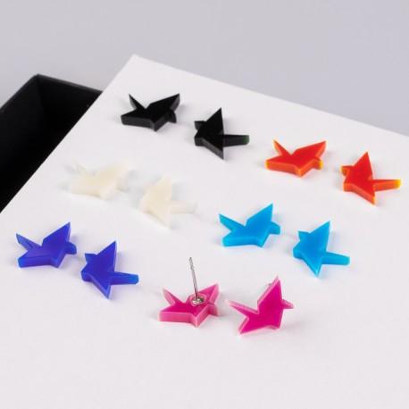 Náušnice MIDI - Origami - 1 pár