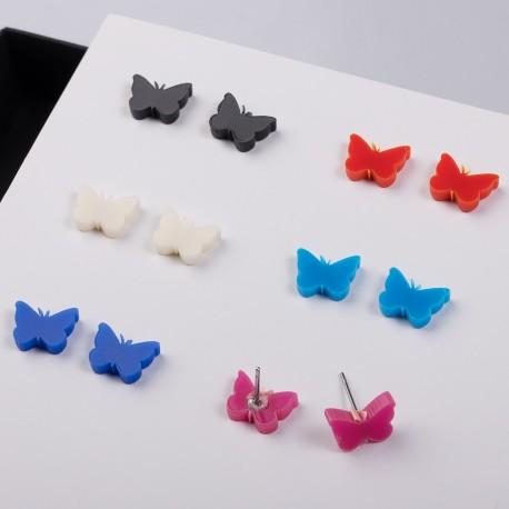 Náušnice MIDI - Motýlci - 1 pár