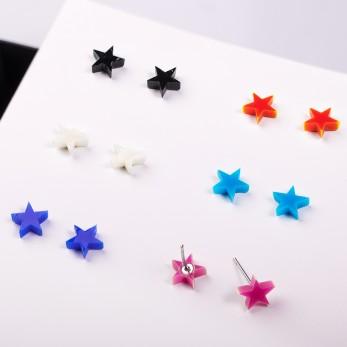 Náušnice MIDI - Star - 1 pár