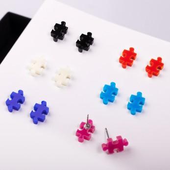 Náušnice MIDI - Puzzle - 1 pár