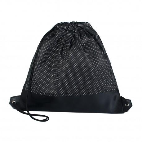 Vak na záda s koženkou - Černobílý puntíček