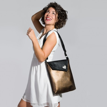 Dámská kabelka Dafné - Černobronzová