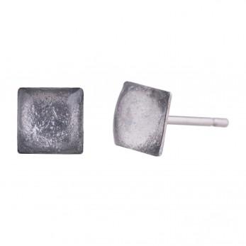 Náušnice Shine - metalická stříbrná