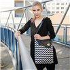 Dámská kabelka Dafné - černá – Cik cak černobílý