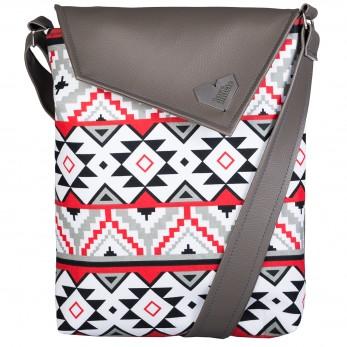 Dámská kabelka Dafné - šedá - Indiánský vzor