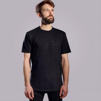 Pánské tričko černé - Bleděmodrá tečka
