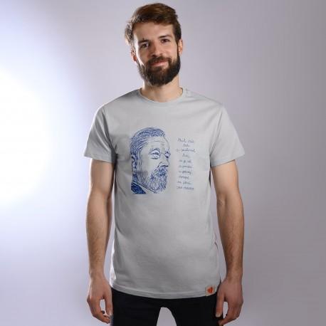 Pánské tričko šedé - Mít rád lidi