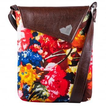 Dámská kabelka Dafné - hnědá - Flower Power