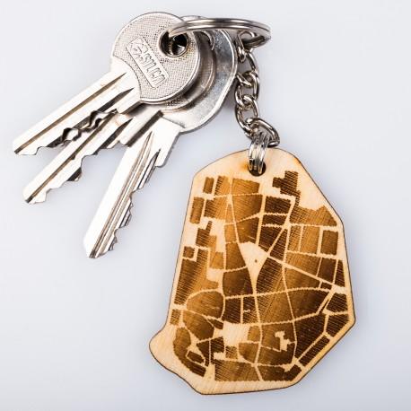 Dřevěná klíčenka - Brno