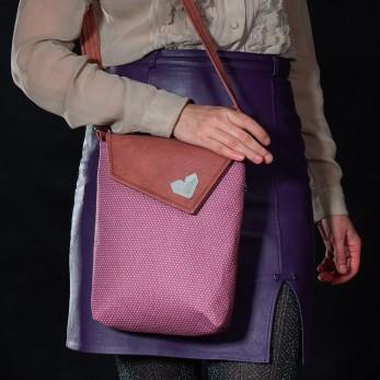 Dámská kabelka Malá Dafné - Starorůžový puntíček