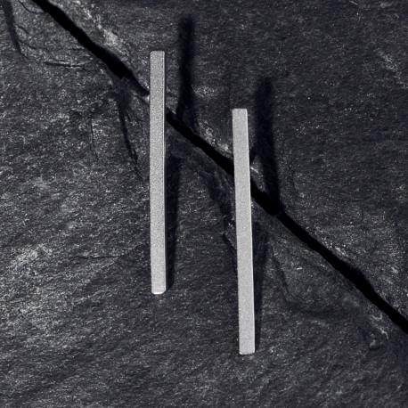 Ocelové náušnice pecky - Geometry - Line