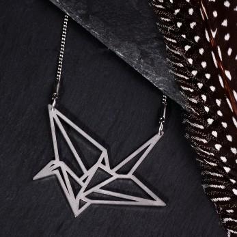 Ocelový náhrdelník - Origami Light