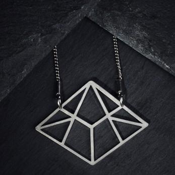 Ocelový náhrdelník - Linear Light