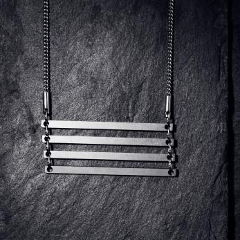 Ocelový náhrdelník - Geometry - Parallel