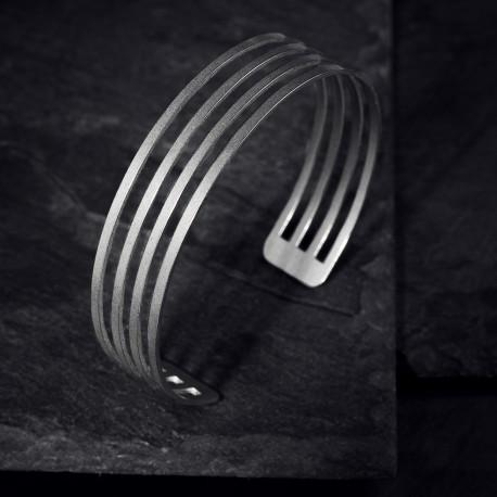 Dámský luxusní ocelový náramek - Parallel Light