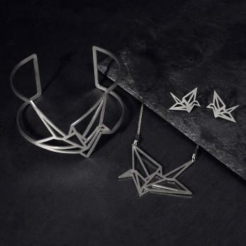 Sada ocelových šperků Origami Light Earstuds