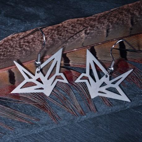 Visací ocelové náušnice - Origami Light