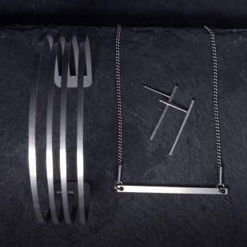Sada ocelových šperků Origami Light