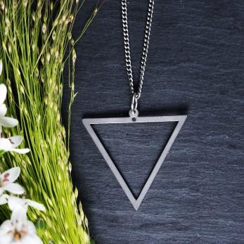 Ocelový náhrdelník Triangle